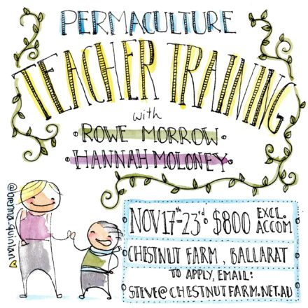 Flyer for permaculture teacher training